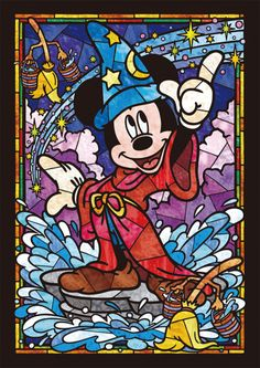 MIKI MAUS Disney Stained Glass Cross Stitch Pattern Counted Cross Stitch Chart, Pdf Format, Instant Download /192275 by icrossstitchpattern on Etsy