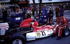 "Andreas Nikolaus ""Niki"" Lauda (AUT) (Marlboro-BRM), BRM P160E - BRM V12 (RET)John Young 'Jackie' Stewart (GBR) (Elf Team Tyrrell), Tyrrell 006 - Ford Cosworth DFV (finished 1st)1973 Monaco Grand Prix, Circuit de Monaco"
