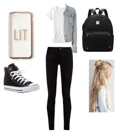 """""""Back to school outfit middle school/high school"""" by pnr4realz on Polyvore featuring Gucci, Horny Toad, rag & bone, Converse and Missguided"""