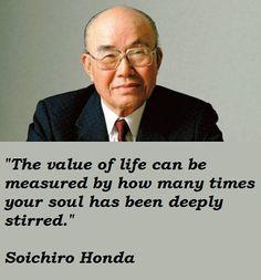 Soichiro Honda, the founder of Honda.                              …