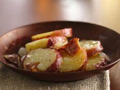 Hot German Potato Salad http://www.bettycrocker.com/recipes/hot-german-potato-salad/39665c22-834a-4d6b-9d9e-218b1e423365