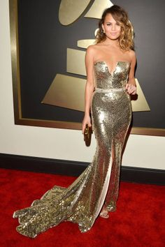 Christy Teigen Las mejores vestidas de los Premios Grammy 2014