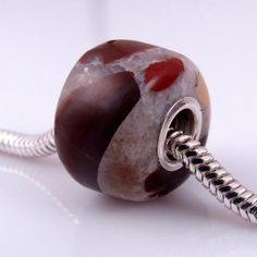 Puddingstone large hole bead charm by rwilberg