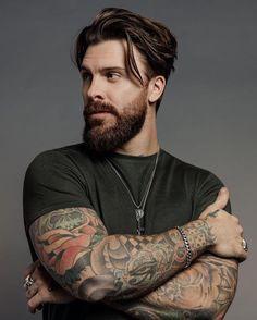 Medium Hair Cuts, Medium Hair Styles, Long Hair Styles, Beard Styles For Men, Hair And Beard Styles, Cool Hairstyles For Men, Haircuts For Men, New Beard Style, Beard Model
