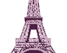 Funky Eiffel Tower - a Counted Cross Stitch Pattern