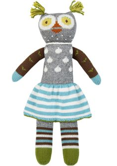 I adore all things blabla, and I especially love this little girl owl and the matching boy owl.