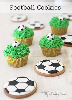 Football Cookies (Galletas decoradas pelota de fútbol) ~ My Lovely Food