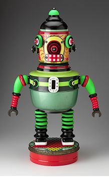 Robot Art Toys by Susan Boss & Mark Brown who make fun, one-of-a-kind artworks in their Easthampton, Massachusetts studio. Such fun & Games with Creative Robots. Via BossBrownArt Vintage Robots, Retro Robot, Vintage Toys, Mr Roboto, Atomic Decor, Domo Arigato, Space Toys, Vintage Space, Tin Toys