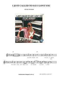 """TODO TECLADOS: """"I JUST CALLED TO SAY I LOVE YOU"""" STEVIE WONDER"""