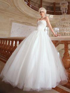 Lan Ting Ball Gown Plus Sizes Wedding Dress - Ivory Floor-length Sweetheart Organza - USD $ 229.99