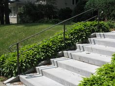 OBrien Ornamental Iron - Gallery of Exterior Step Rails