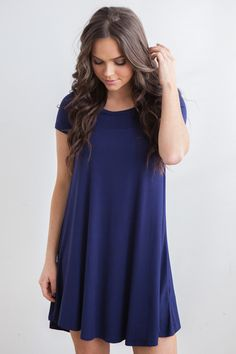 Shop our Noteworthy Short Sleeve Swing dress, an essential for your closet! Always free shipping on US orders $50 & up!