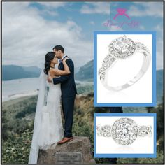 Famously Beautiful!  Oh My Heart Be Still!  Beautiful Wedding Ring Set!  Gorgeous CZ Jewelry in 925 Sterling Silver with a Platinum Rhodium Finish!  Visit our website to view our stunning jewelry.  You will fall in love!