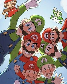 The Mario bros. Super Mario Games, Super Mario Art, Super Mario World, Nintendo Game, Nintendo World, Mario Y Luigi, Mario Kart, Super Smash Bros, Mario Comics