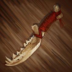 Bone Knife by johnariosa.deviantart.com on @DeviantArt