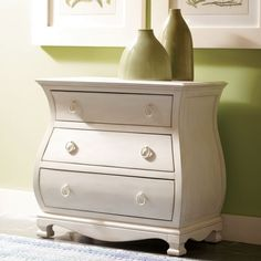 Riverside Furniture Placid Cove Bombe Nightstand