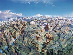 Heinrich Begann - Yosemite Map 1989