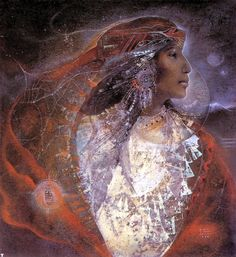 White Shell Woman: Painting by Susan Seddon Boulet http://ofearna.us/art/boulet.html
