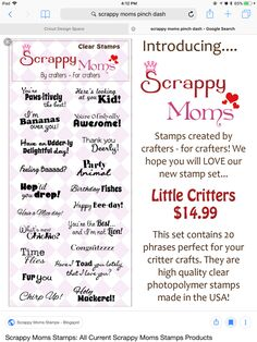 Scrappy Cat Clear Stamps Sayings /& Shapes 6 Design Choices Scrapbooking fnt
