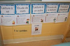 Coco et Peanut daily five Daily 5 Board, Teaching French Immersion, Daily Five, French School, Language Activities, Grade 1, Literacy, Kindergarten, Learning