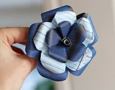 Paper flowers. This even has templates for big and small versions - I love it!  and the best part?!?! NO GLUE!
