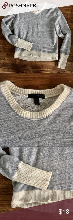 J Crew soft marbled jersey top J Crew super soft and comfy jersey top in excellent condition! Granite gray and ivory. Retail $48  BUNDLE FOR MORE SHIPPING POWER! J. Crew Tops Sweatshirts & Hoodies
