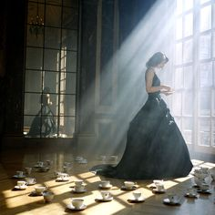 The shadow side of a princess... I guess no one came to her tea party or her prince charming was slayed by the dragon??
