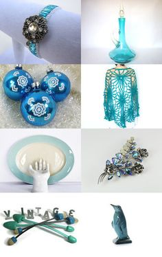 gifts for her in shades of blue by Phylly on Ets