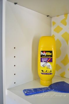 Spackle holes to make a cheap Ikea Billy bookcase look high-end. |A house full of sunshine