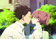 Manga Cosplay koe no katachi kiss Film Anime, Manga Anime, Anime Art, Koe No Katachi Anime, A Silent Voice Manga, The Garden Of Words, Japanese Animated Movies, Anime Triste, Tamako Love Story