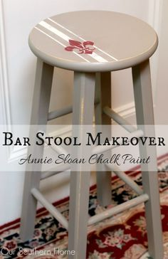Blog post at Our Southern Home :    Today I am sharing my bar stool makeover with Annie Sloan Chalk Paints.  This month's Themed Furniture Makeover Day is Chairs! [..]