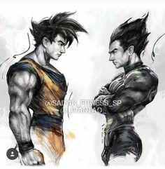Goku and Vegeta Disney Marvel, Dragon Ball Z, Vegito Y Gogeta, Manga Dragon, Goku And Vegeta, Z Arts, Fan Art, Fanarts Anime, Db Z