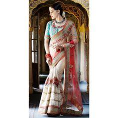 Red,White Color Saree at Rs.8,196.29  #shopping #sarees #wedding #indianfashion # sanginionline #sinduri #red #shopit #white