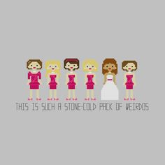 Bridesmaids Cross Stitch Pattern por YouMakeMeSewHappy en Etsy, $6.99