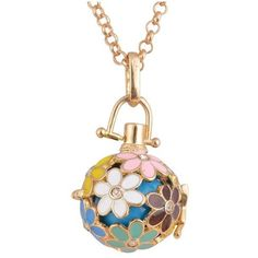 Rhinestone Floral Pregnant Bead Locket Necklace (£2.86) ❤ liked on Polyvore featuring jewelry, necklaces, locket necklace, rhinestone jewelry, rhinestone necklace, beaded necklaces and beading jewelry