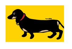 {Long Dachshund} Marc Tetro. I have this in one of my bathrooms.