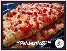 Pizza peperoni e cipolla con pasta madre