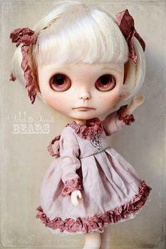 Romantic Dress For BLYTHE By ODD PRINCESS Vintage by oddprincess, $65.00