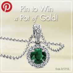 Pin to WIN a Pot of Gold, presented by Blue Nile! Beautiful and just happens to be my birthstone too! Double Plus! Pot Of Gold, Green And Gold, Blue Nile Jewelry, My Birthstone, Birthstone Jewelry, Future Fashion, All That Glitters, Girls Best Friend, Cool Things To Buy