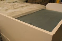 A brilliant way to sleep closely and safely with your baby - by having a bedside cot or crib with an open ... 7 of the best co-sleeper cots and cribs for safe sleeping. http://babycosleeper.com/