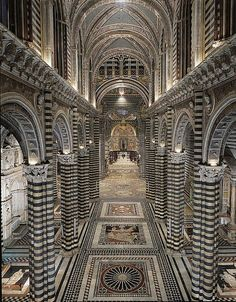 "Duomo di Siena. Pavimento ""Capolavoro"" The most beautifull ever made. Siena, Italia."