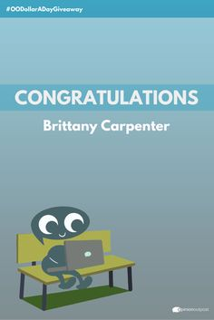 Thank you to everyone who entered our #OODollarADayGiveaway on Facebook last Friday! Congratulations to Brittany Carpenter (marykaybrittcarpenter), our lucky winner!