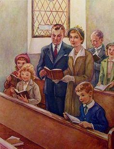 Even though this is just a drawing, it reminds me so much of when our family attended church in Springdale, OH