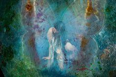 MELANCHOLY   magical luminescent original fairy by ragensart, $1300.00