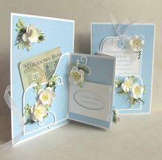 ...bo już była bardzo podobna kartka ślubna w postaci mojego ulubionego składaczka :) W roli głównej papier Przyszła wiosna - W pąkach krok...