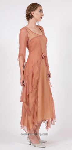 10709 Layered Wedding Nataya Dress Rose/Gold, #daisybuchanan #gatsby