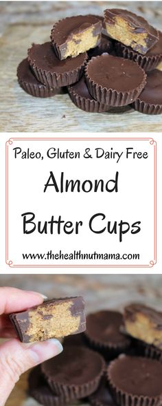 Healthy, Easy & Delicious with no nasty ingredients! w… Paleo Almond Butter Cups. Healthy, Easy & Delicious with no nasty ingredients! Dessert Sans Gluten, Low Carb Dessert, Paleo Dessert, Gluten Free Desserts, Dessert Recipes, Paleo Recipes, Gourmet Recipes, Whole Food Recipes, Cooker Recipes