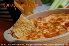 buffalo chicken dip.  possible game day food?