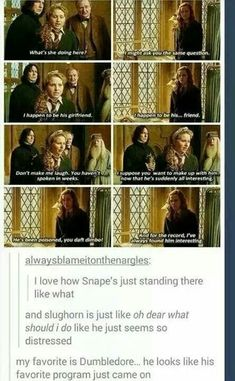 """Dumbledore's face just has """"oh snap"""" written all over it"""