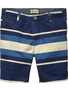 Striped Canvas Shorts |Short pants|Men Clothing at Scotch & Soda